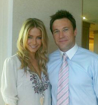 Troy Gray with Jennifer Hawkins